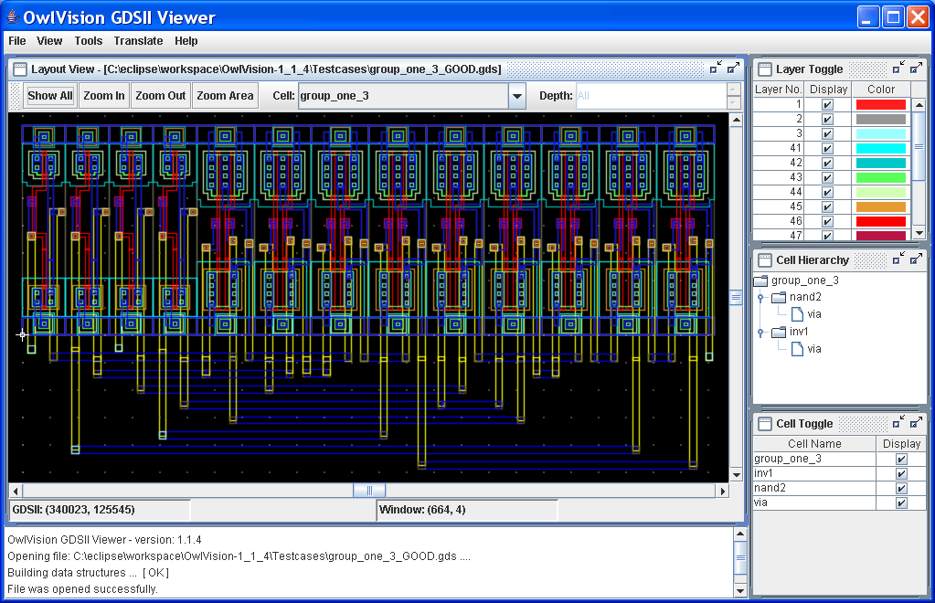 Owlvision Gdsii Viewer A Free Vlsi Layout Viewer